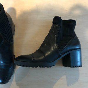 Zara lug sole /ankle sock bootie
